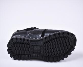 Мъжки спортни обувки естествена кожа черни