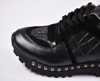 Мъжки спортни обувки еко кожа черни