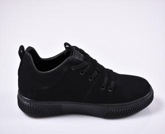 Мъжки спортни обувки естествен велур черни 3