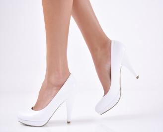 Дамски елегантни обувки-Гигант еко кожа бели
