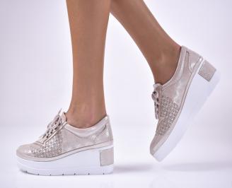 Дамски  обувки естествена кожа бежови