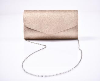 Абитуриентска чанта брокат/текстил  златиста