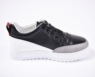 Мъжки спортно  обувки еко кожа черни
