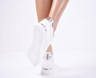 Дамски спортни обувки  еко кожа бели