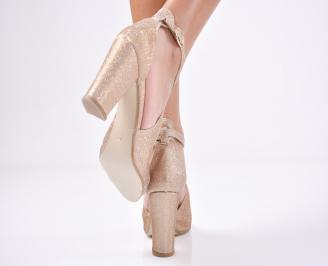 Дамски елегантни сандали  златисти 3