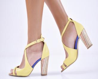 Дамски  елегантни сандали  жълти