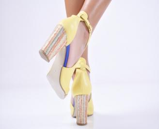 Дамски  елегантни сандали  жълти 3