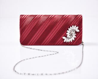 Абитуриентска чанта сатен червена