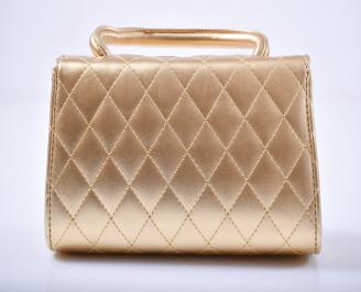 Дамска чанта  златиста