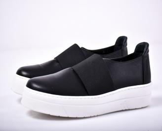 Мъжки спортни обувки естествена кожа черен
