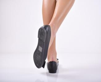 Дамски  обувки равни  черни еко кожа 3