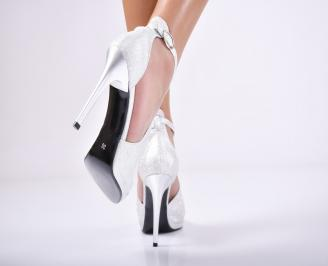 Дамски елегантни сандали  сребристи 3