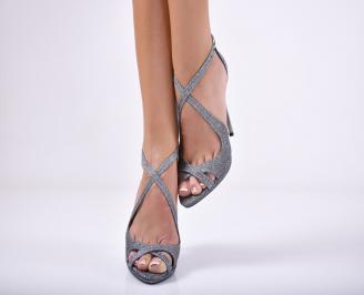 Дамски елегантни сандали  сиви