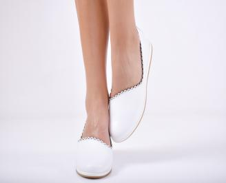 Дамски  обувки естествена кожа бели