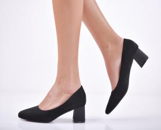 Дамски ежедневни обувки еко велур черни