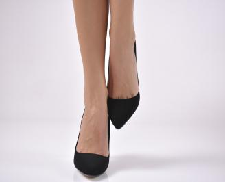 Дамски елегантни обувки черни EOBUVKIBG