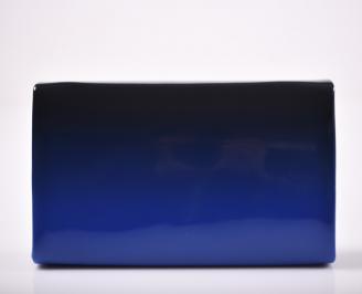 Абитуриентска чанта еко кожа /лак синя