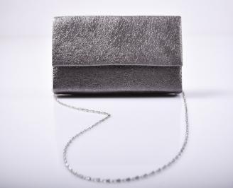 Абитуриентска чанта еко кожа сива