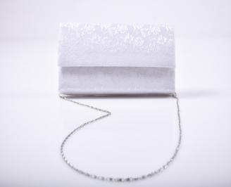 Абитуриентска чанта сатен бяла