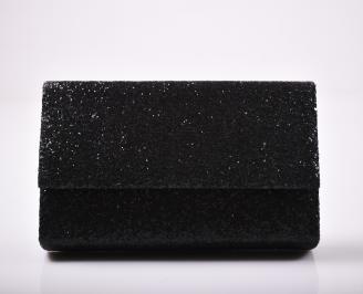 Абитуриентска чанта еко кожа/брокат черна