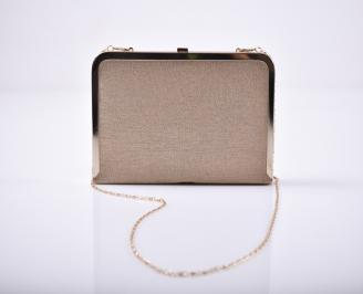 Абитуриентска чанта еко кожа /лак  бежова
