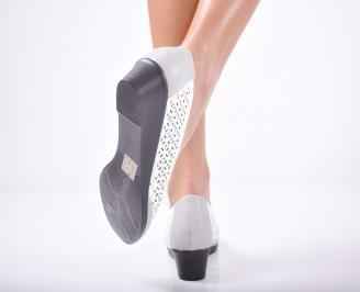 Дамски ежедневни обувки  еко кожа бели