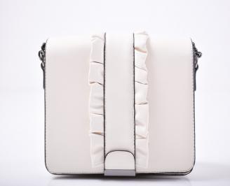 Дамска чанта еко кожа бежова
