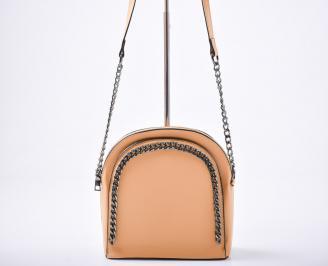 Дамска чанта еко кожа жълта 3