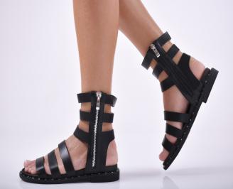Дамски равни сандали  еko кожа черни