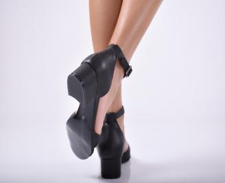 Дамски  сандали естествена кожа черни 3