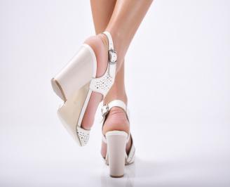 Дамски елегантни сандали естествена  кожа бежови 3