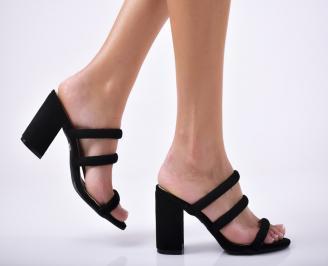 Дамски елегантни чехли черни