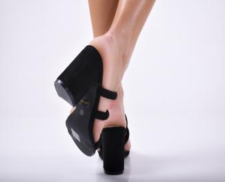 Дамски елегантни чехли черни 3
