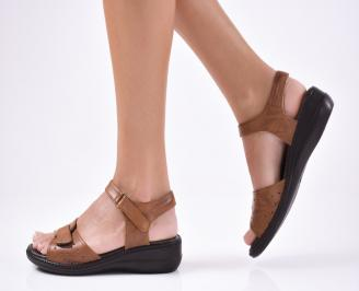 Дамски сандали  кафяви