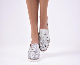 Дамски  обувки  сребристи