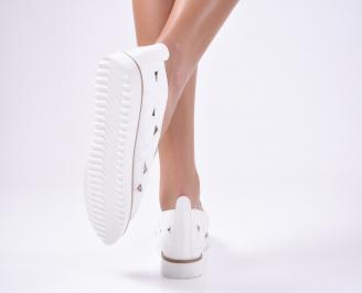 Дамски  обувки еко кожа бели