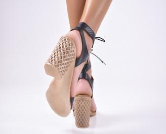 Дамски елегантни сандали естествена  кожа черни 3