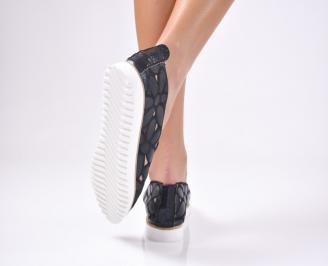 Дамски  обувки равни  черни еко кожа
