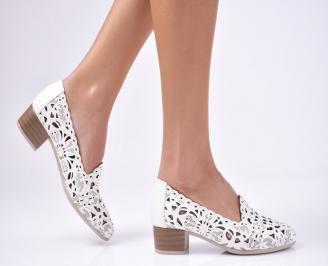 Дамски обувки естествена кожа светло бежово
