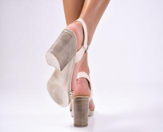 Дамски елегантни сандали  бежови