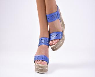 Дамски сандали  сини