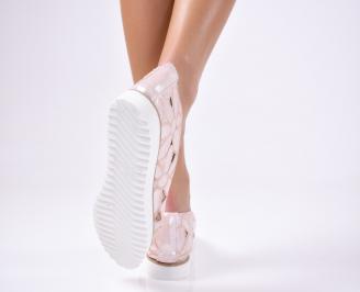 Дамски  обувки еко кожа розови