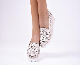 Дамски обувки на платформа еко кожа розови