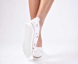 Дамски обувка  еко кожа сиви