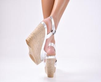 Дамски  сандали еко кожа сребрист
