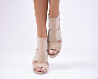 Дамски сандали  набук  бежови