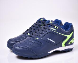 Мъжки  маратонки   BULLDOZER  еко кожа сини