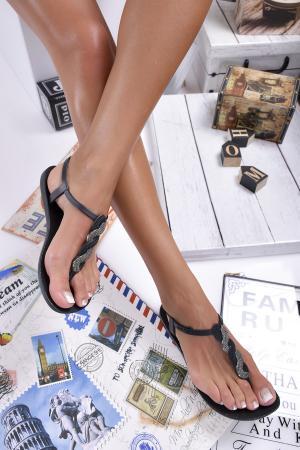 Дамски равни  сандали черни