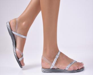 Дамски сандали сиви