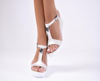 Дамски сандали  еко кожа телесно  бежови